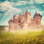 foto of castle  - Fairy tale princess castle  from dreams - JPG