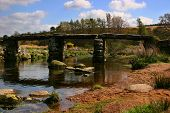 image of old bridge  - bridge over water, devon, england