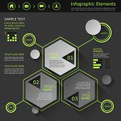 Abstract Hexagonal Infographics