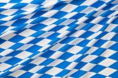 Oktoberfest blue checkered fabric background