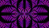 Fabulous Symmetric Pattern Of The Leaves In Purple. Computer Generated Graphics.