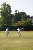 Batting On The Village Green