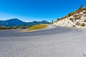 foto of french curves  - Winding Paved Road in the French Alps - JPG