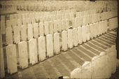 stock photo of tyne  - vintage photo of Tyne Cot Cemetery in Ypres world war belgium flanders - JPG