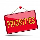 stock photo of priorities  - priorities important very high urgency info lost importance crucial information top priority icon stamp button or label - JPG