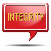 integrity authentic and honest and reliable guidance integrity button integrity icon trust with text