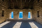 stock photo of andes  - interior of the House of the Guardians Machu Picchu - JPG