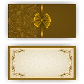 stock photo of brocade  - Elegant template luxury invitation - JPG