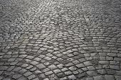 foto of cobblestone  - Cobblestone pavement - JPG