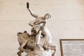 stock photo of centaur  - An image of Hercules Beating the Centaur Nessus - JPG