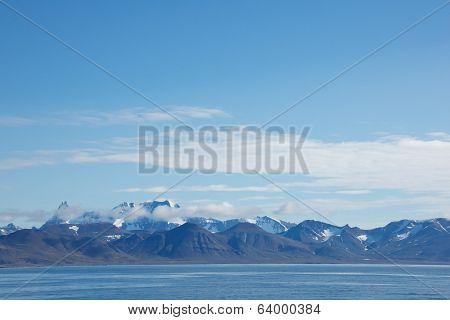 Mountain Range in Hornsund, Svalbard