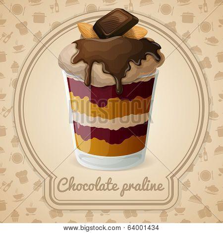 Chocolate praline poster
