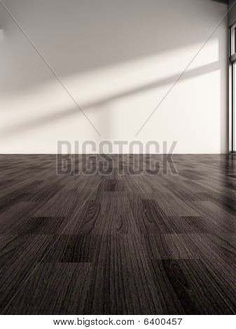 White Wall With Parquet