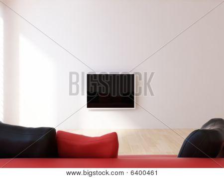 Flatscreen To Face A Blank Wall