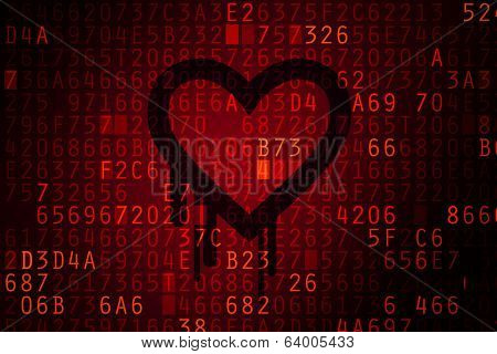 Heartbleed Bug Concept.