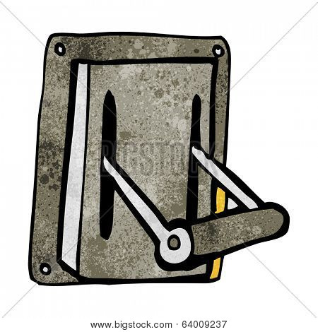 cartoon industrial machine lever