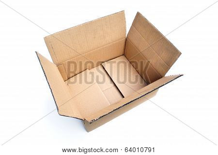 Isolated Cardboard Box