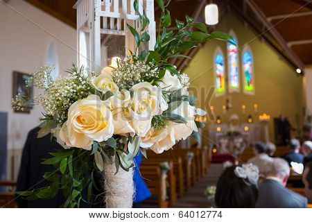 Wedding Set Up In Church. Ireland