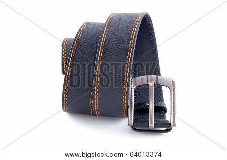 Man's Fashion Belt Isolated On A White Background