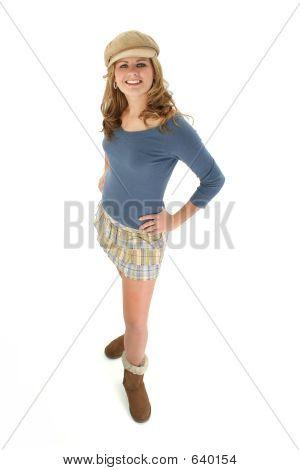 Blonde Teen Mini Skirt
