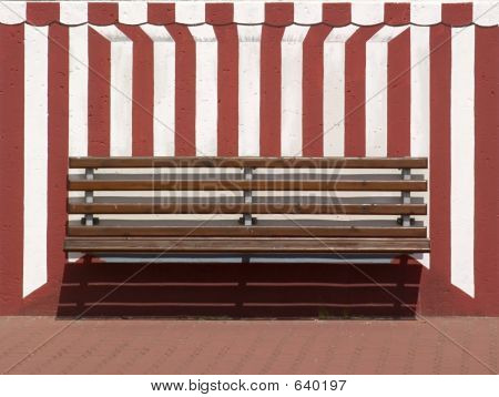 Bench In A Painted Beach Chair