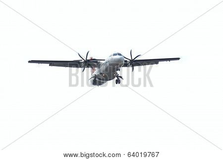 Propeller Aircraft Coming In For A Landing