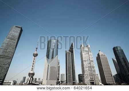 Shanghai Financial Center Skyline