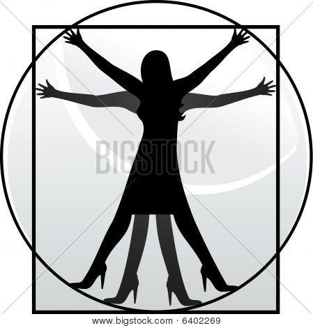 Mujer de Vitruvio