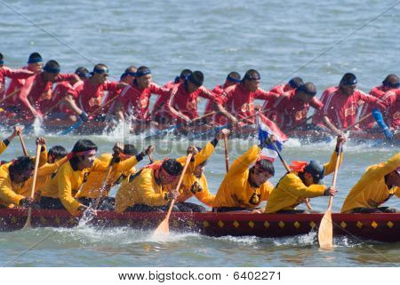 Longboat Racing In Pattaya, Thailand