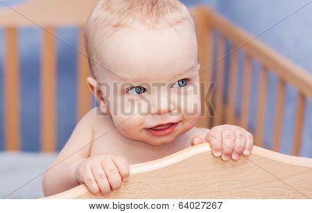 Cute Baby Boy A Cot