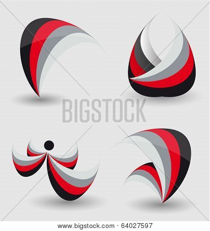 Abstract Business Icon Set