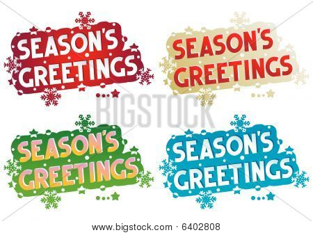 Holiday greetings - Season's Greetings
