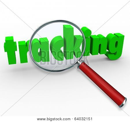 Tracking Word Magnifying Glass Find Order Package