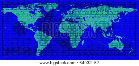 World Map On The Background Of $ 100