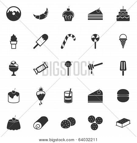 Dessert Icons On White Background