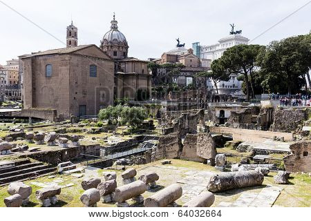 The Fori Imperiali in Rome, Italy