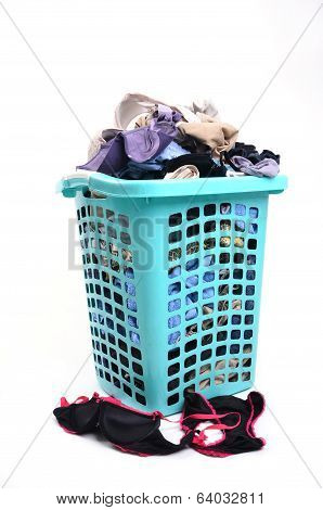 Unwashed Cloth In Basket