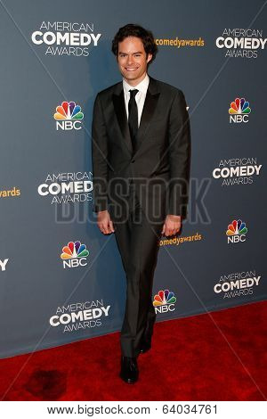 NEW YORK-APR 26: Actor/Comedian Bill Hader attends the American Comedy Awards at the Hammerstein Ballroom on April 26, 2014 in New York City.
