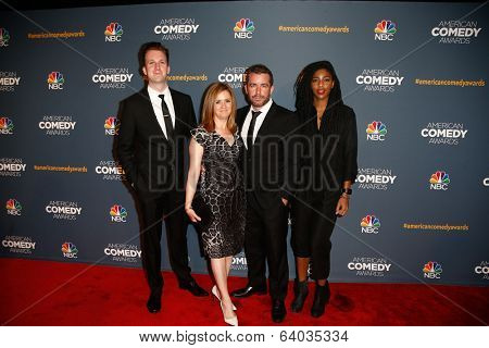 NEW YORK-APR 26: (L-R) Jordan Klepper, Samantha Bee, Jason Jones and Jessica Williams attend the American Comedy Awards at the Hammerstein Ballroom on April 26, 2014 in New York City.