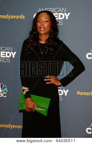 NEW YORK-APR 26: Actress/Comedian Aisha Tyler attends the American Comedy Awards at the Hammerstein Ballroom on April 26, 2014 in New York City.