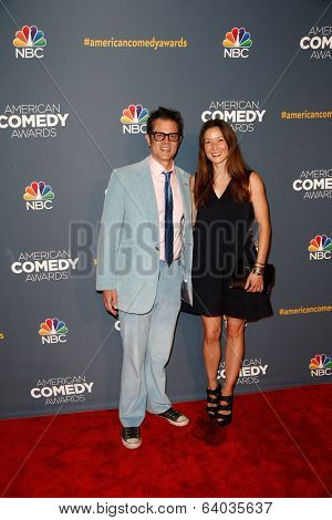 NEW YORK-APR 26: Actor/Comedian Johnny Knoxville and wife Naomi Nelson attend the American Comedy Awards at the Hammerstein Ballroom on April 26, 2014 in New York City.