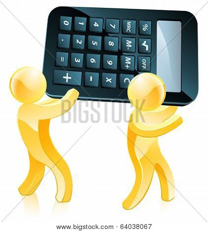 Calculator Gold People
