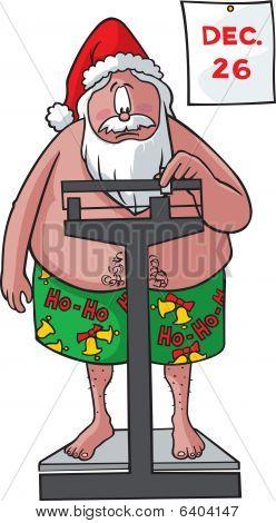 Santa on scales