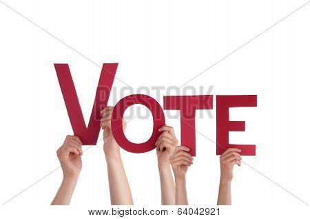 People Holding Vote