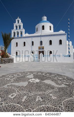 Orthodox church in Santorini