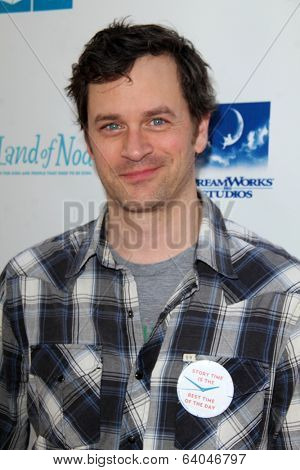 LOS ANGELES - APR 27:  Tom Everett Scott at the Milk + Bookies Story Time Celebration at Skirball Center on April 27, 2014 in Los Angeles, CA