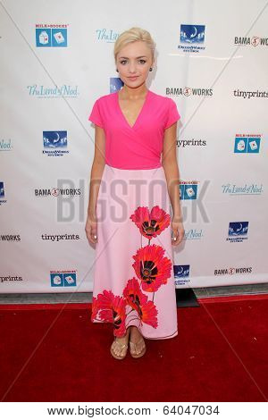 LOS ANGELES - APR 27:  Peyton List at the Milk + Bookies Story Time Celebration at Skirball Center on April 27, 2014 in Los Angeles, CA