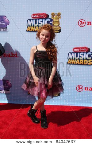 LOS ANGELES - APR 26:  Francesca Capaldi at the 2014 Radio Disney Music Awards at Nokia Theater on April 26, 2014 in Los Angeles, CA