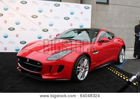 LOS ANGELES - APR 25:  2014 Jaguar F Type Coupe at the 2014 LA Modernism Show Opening Night at 3Lab on April 25, 2014 in Culver City, CA