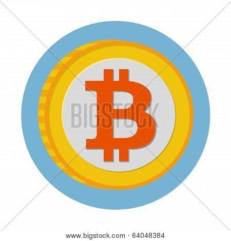 Bitcoin flat icon